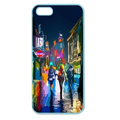 Abstract Vibrant Colour Cityscape Apple Seamless Iphone 5 Case (color)