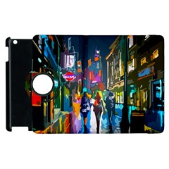 Abstract Vibrant Colour Cityscape Apple Ipad 2 Flip 360 Case by BangZart
