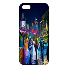Abstract Vibrant Colour Cityscape Apple Iphone 5 Premium Hardshell Case by BangZart