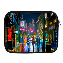 Abstract Vibrant Colour Cityscape Apple Ipad 2/3/4 Zipper Cases