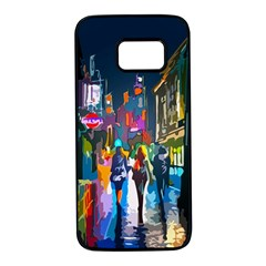 Abstract Vibrant Colour Cityscape Samsung Galaxy S7 Black Seamless Case by BangZart