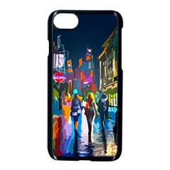 Abstract Vibrant Colour Cityscape Apple Iphone 8 Seamless Case (black) by BangZart