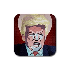 Donald Trump Pop Art President Usa Rubber Coaster (square)  by BangZart