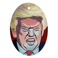 Donald Trump Pop Art President Usa Oval Ornament (two Sides) by BangZart