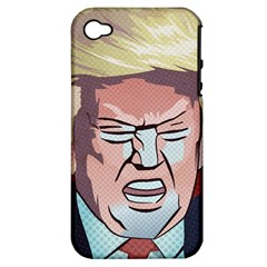 Donald Trump Pop Art President Usa Apple Iphone 4/4s Hardshell Case (pc+silicone)