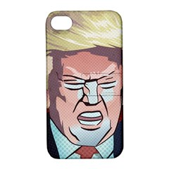 Donald Trump Pop Art President Usa Apple Iphone 4/4s Hardshell Case With Stand