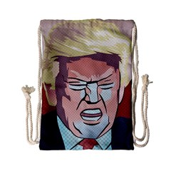 Donald Trump Pop Art President Usa Drawstring Bag (small)