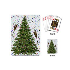 New Year S Eve New Year S Day Playing Cards (mini)  by BangZart