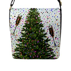 New Year S Eve New Year S Day Flap Messenger Bag (l)  by BangZart