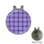 Purple Plaid Original Traditional Hat Clips with Golf Markers Front