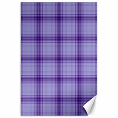 Purple Plaid Original Traditional Canvas 24  X 36