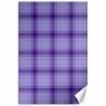 Purple Plaid Original Traditional Canvas 24  x 36  36 x24 Canvas - 1