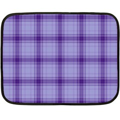 Purple Plaid Original Traditional Fleece Blanket (mini)