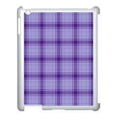 Purple Plaid Original Traditional Apple Ipad 3/4 Case (white)