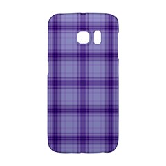 Purple Plaid Original Traditional Galaxy S6 Edge by BangZart