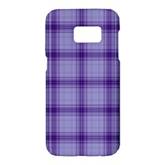 Purple Plaid Original Traditional Samsung Galaxy S7 Hardshell Case