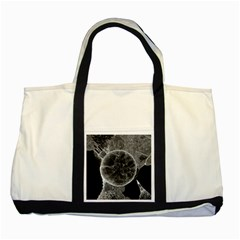 Space Universe Earth Rocket Two Tone Tote Bag