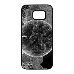 Space Universe Earth Rocket Samsung Galaxy S7 Edge Black Seamless Case by BangZart