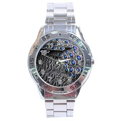 Feather Bird Bird Feather Nature Stainless Steel Analogue Watch by BangZart