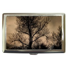 Tree Bushes Black Nature Landscape Cigarette Money Cases