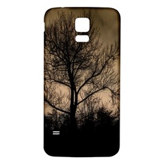 Tree Bushes Black Nature Landscape Samsung Galaxy S5 Back Case (white) by BangZart