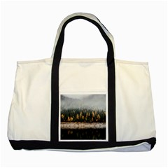 Trees Plants Nature Forests Lake Two Tone Tote Bag