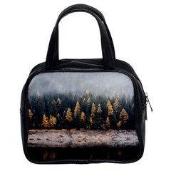 Trees Plants Nature Forests Lake Classic Handbags (2 Sides)