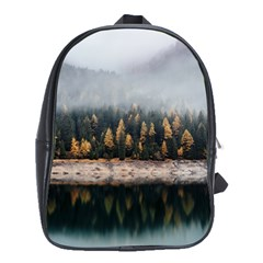 Trees Plants Nature Forests Lake School Bag (large) by BangZart