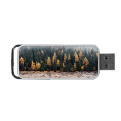 Trees Plants Nature Forests Lake Portable Usb Flash (one Side) by BangZart