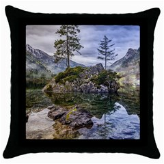 Hintersee Ramsau Berchtesgaden Throw Pillow Case (black)