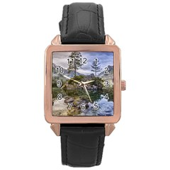 Hintersee Ramsau Berchtesgaden Rose Gold Leather Watch