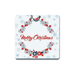Merry Christmas Christmas Greeting Square Magnet
