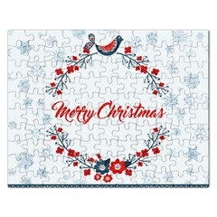 Merry Christmas Christmas Greeting Rectangular Jigsaw Puzzl by BangZart