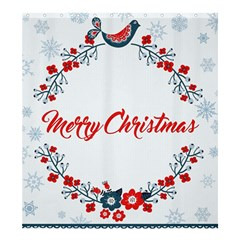 Merry Christmas Christmas Greeting Shower Curtain 66  X 72  (large)