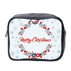 Merry Christmas Christmas Greeting Mini Toiletries Bag 2 Side