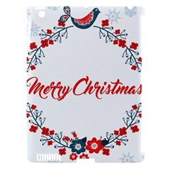 Merry Christmas Christmas Greeting Apple Ipad 3/4 Hardshell Case (compatible With Smart Cover) by BangZart