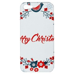 Merry Christmas Christmas Greeting Apple Iphone 5 Hardshell Case