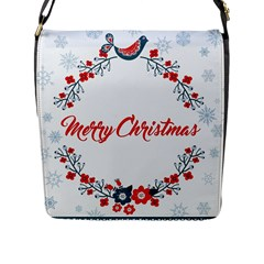 Merry Christmas Christmas Greeting Flap Messenger Bag (l)  by BangZart