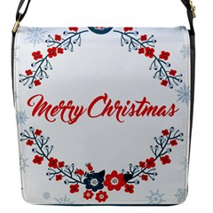 Merry Christmas Christmas Greeting Flap Messenger Bag (s) by BangZart