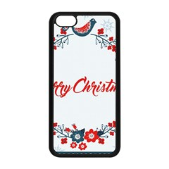 Merry Christmas Christmas Greeting Apple Iphone 5c Seamless Case (black) by BangZart