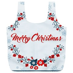 Merry Christmas Christmas Greeting Full Print Recycle Bags (l)  by BangZart
