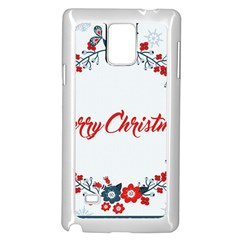 Merry Christmas Christmas Greeting Samsung Galaxy Note 4 Case (white) by BangZart