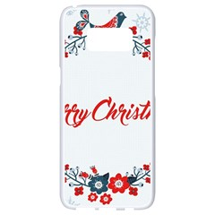 Merry Christmas Christmas Greeting Samsung Galaxy S8 White Seamless Case by BangZart