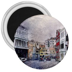 Venice Small Town Watercolor 3  Magnets by BangZart