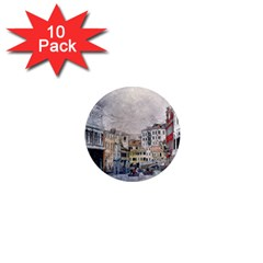 Venice Small Town Watercolor 1  Mini Magnet (10 Pack)