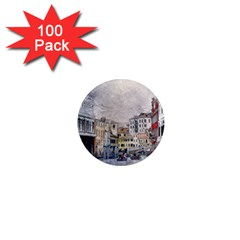 Venice Small Town Watercolor 1  Mini Magnets (100 Pack)