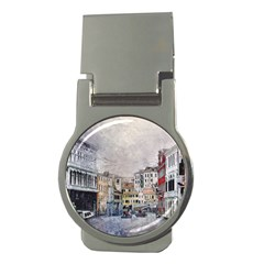 Venice Small Town Watercolor Money Clips (round)  by BangZart