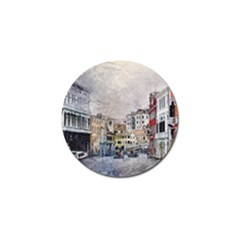 Venice Small Town Watercolor Golf Ball Marker by BangZart