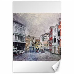 Venice Small Town Watercolor Canvas 24  X 36