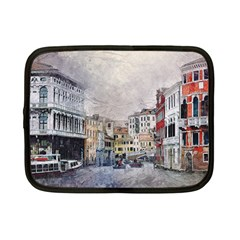 Venice Small Town Watercolor Netbook Case (small)  by BangZart